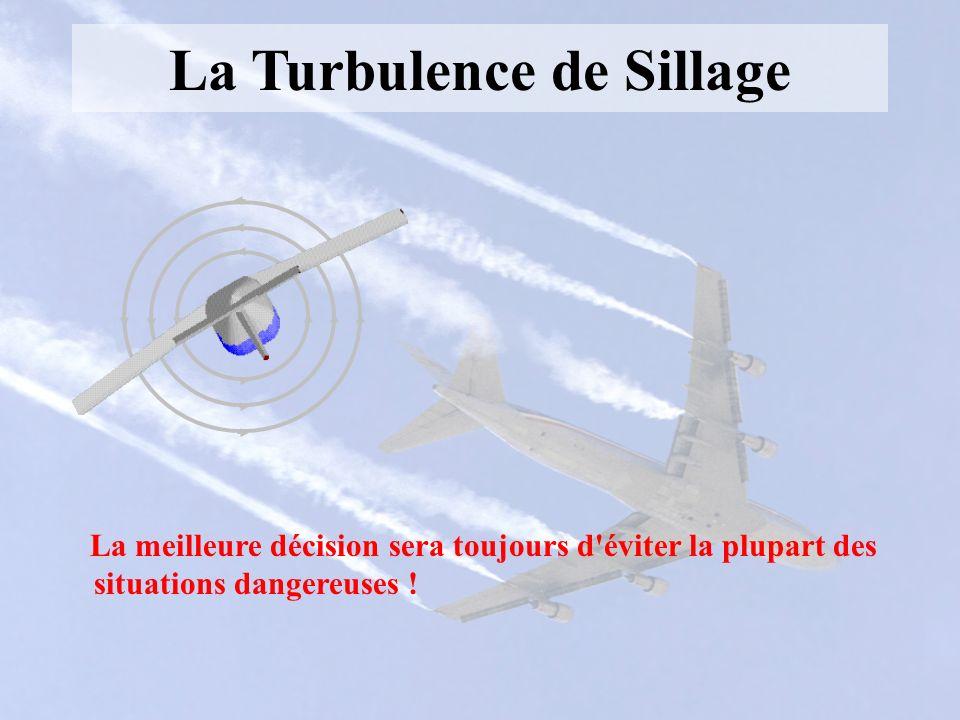 La Turbulence de Sillage La meilleure décision sera toujours d'éviter la plupart des situations dangereuses !