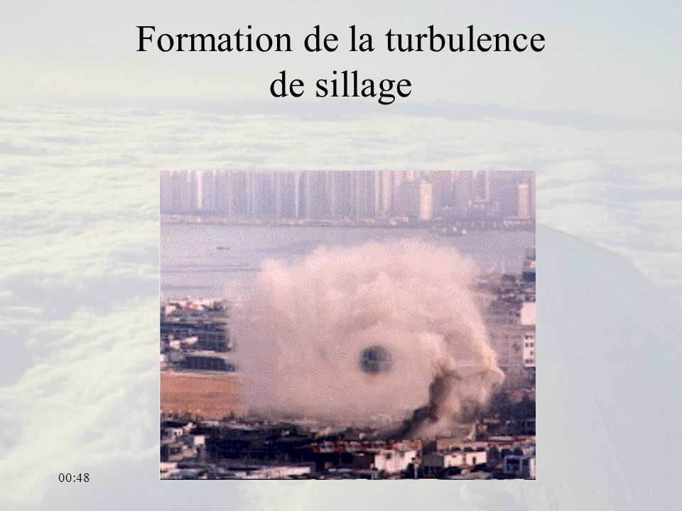 00:50 Formation de la turbulence de sillage
