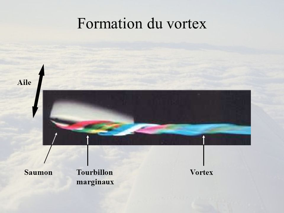 Formation du Vortex Maquette envoyée dans une fumée (source : ONERA)