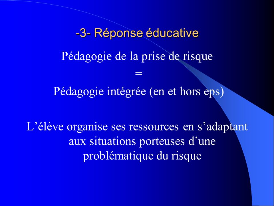 QUESTION : A lécole faut-il donner plus dimportance à la prévention passive ou active .