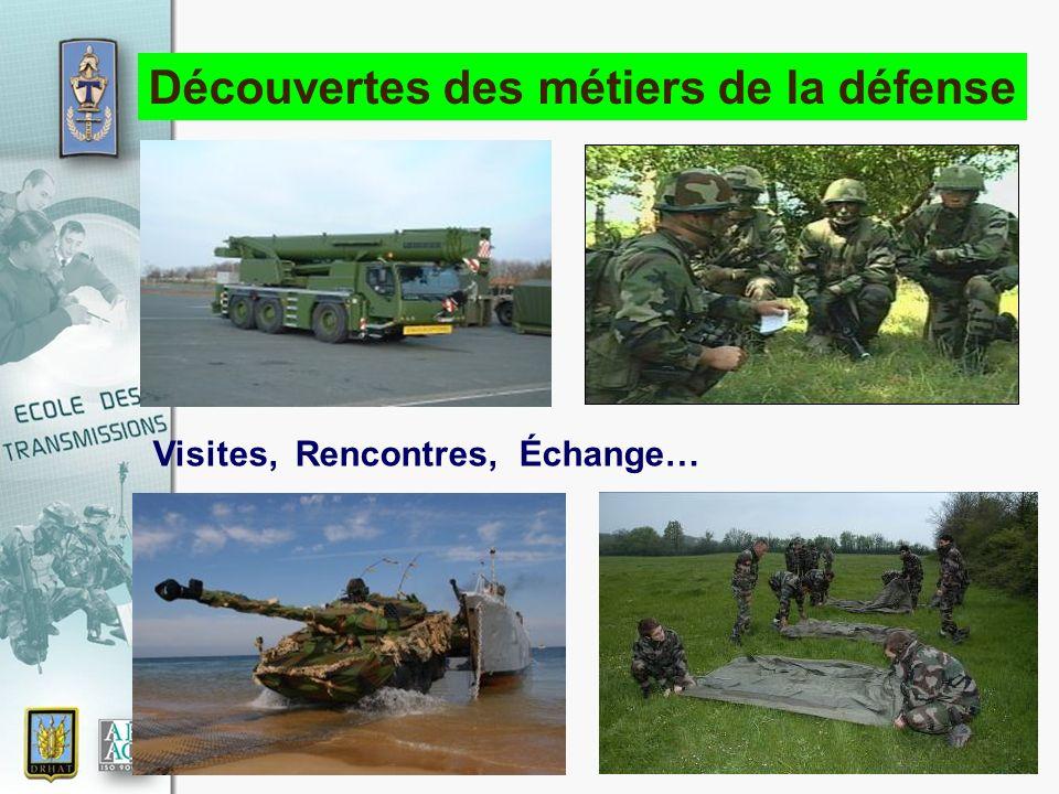 17 novembre 2010 Découvertes des métiers de la défense Visites, Rencontres, Échange…