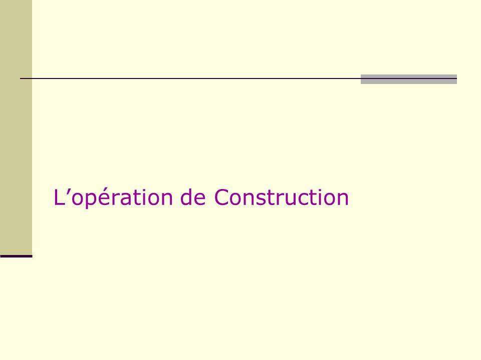Lopération de Construction