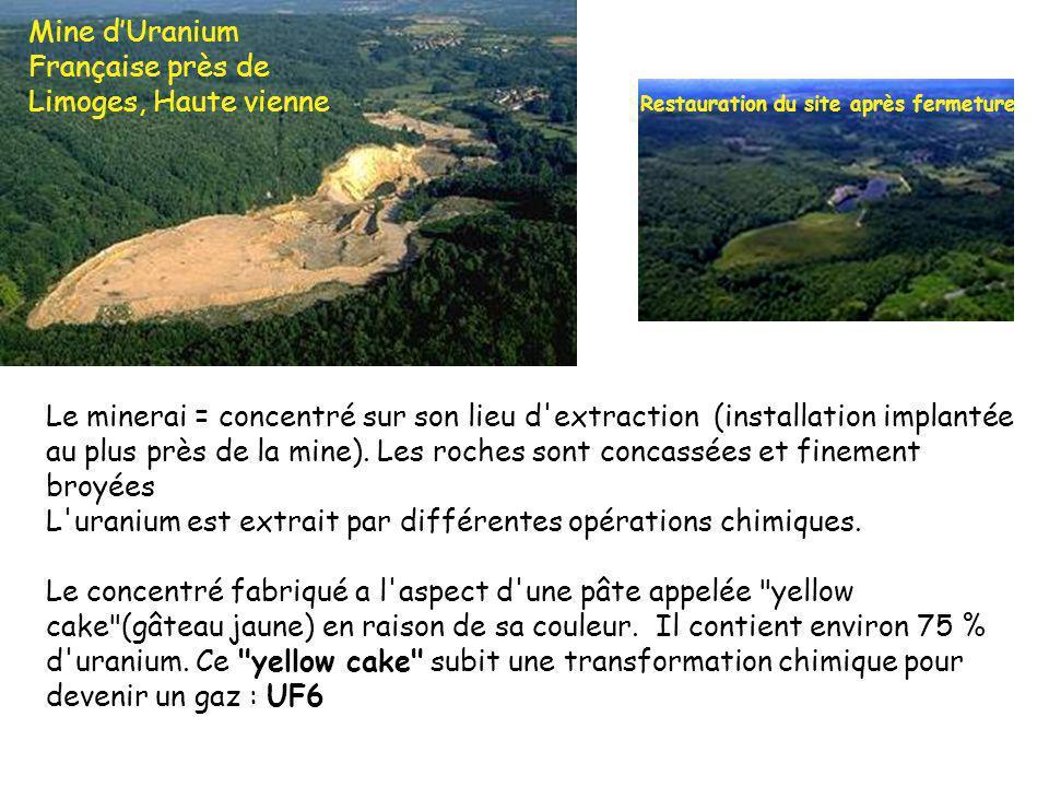 Le minerai = concentré sur son lieu d extraction (installation implantée au plus près de la mine).