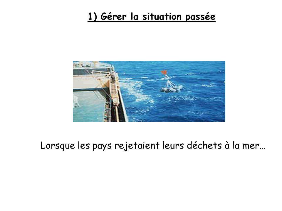1) Gérer la situation passée Lorsque les pays rejetaient leurs déchets à la mer…