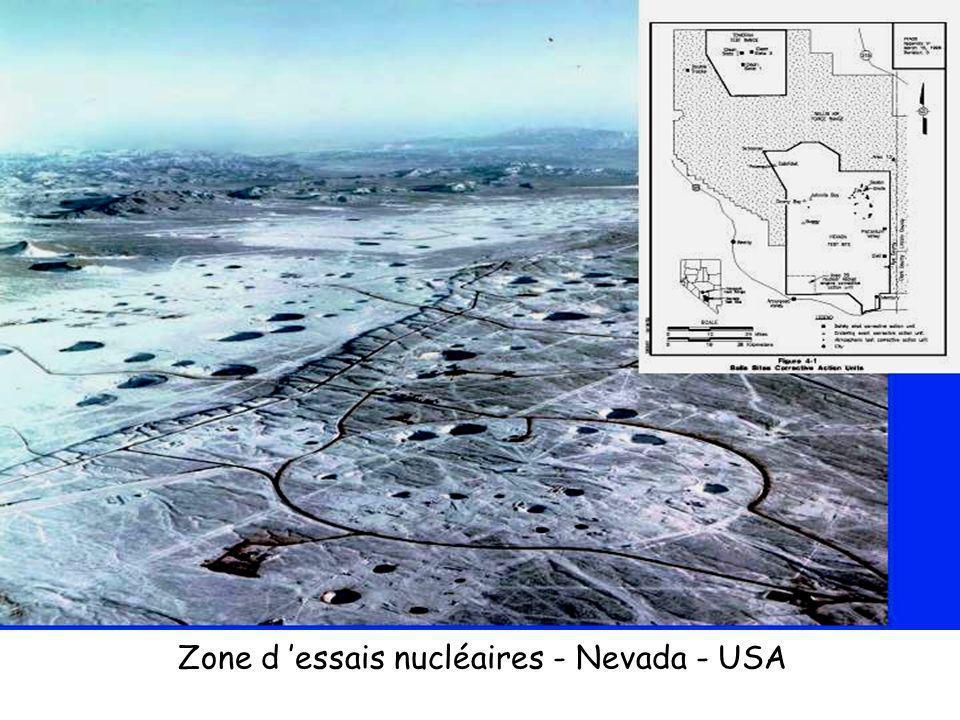 Zone d essais nucléaires - Nevada - USA