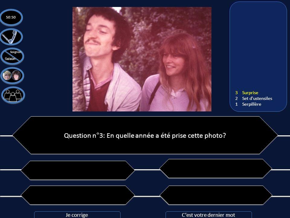 Question n°3: En quelle année a été prise cette photo? C: 1979 C: 1979 B: 1983 B: 1983 A: 1981 A: 1981 D: Il y a prescription D: Il y a prescription 5