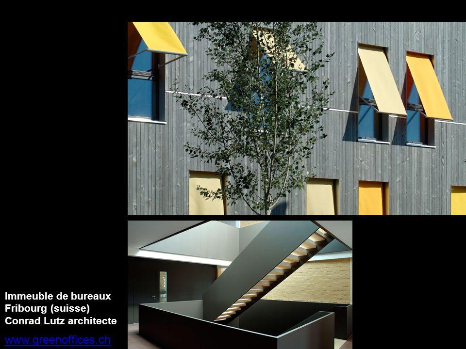 www.greenoffices.ch Immeuble de bureaux Fribourg (suisse) Conrad Lutz architecte