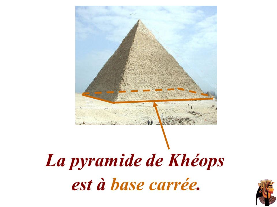H S H est à la fois le centre de la base carrée et le pied de la hauteur [SH] de la pyramide. H