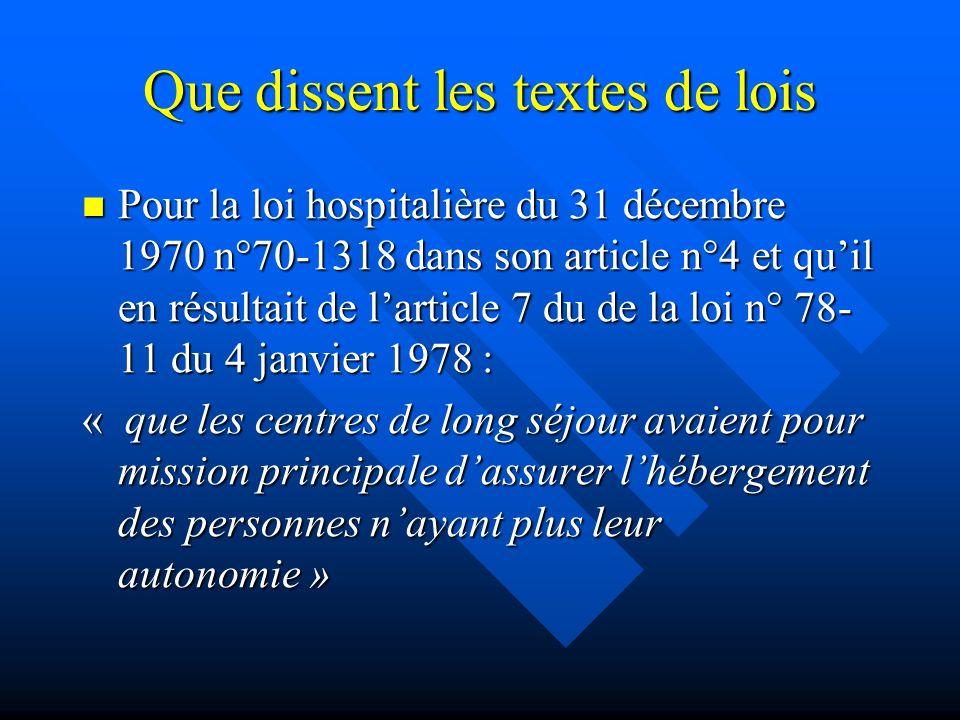 Que dissent les textes de lois Pour la loi hospitalière du 31 décembre 1970 n°70-1318 dans son article n°4 et quil en résultait de larticle 7 du de la