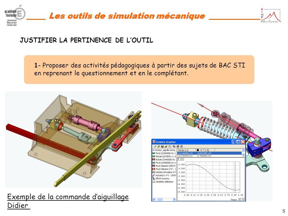 4 Les outils de simulation mécanique ELABORATION DUN CD-ROM AVEC 3 AXES : -1- JUSTIFIER LA PERTINENCE DE LOUTIL -2- AIDER LES ENSEIGNANTS A SAPPROPRIE