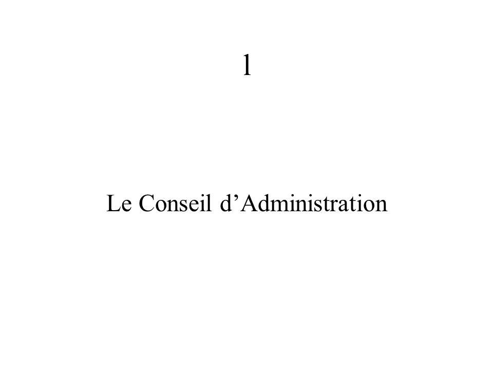 l Le Conseil dAdministration