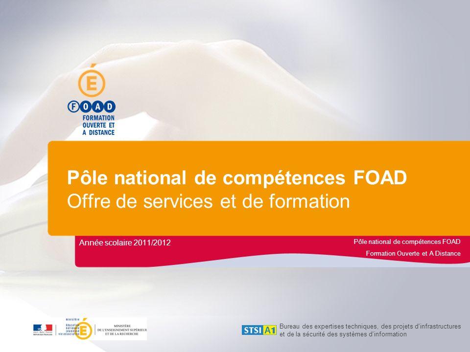 Pôle national de compétences FOAD Formation Ouverte et A Distance Pôle national de compétences FOAD Offre de services et de formation Année scolaire 2