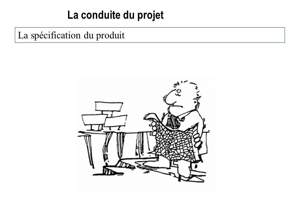 La conduite du projet La spécification du produit