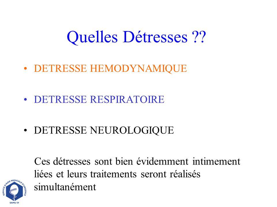 DETRESSE HEMODYNAMIQUE DETRESSE RESPIRATOIRE DETRESSE NEUROLOGIQUE Ces détresses sont bien évidemment intimement liées et leurs traitements seront réa