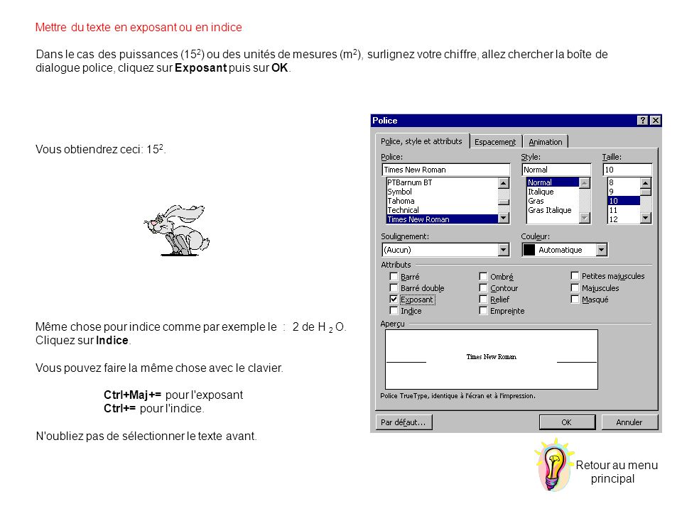 Changement de Majuscule vers Minuscule Choisissez la commande Changer la Casse du menu Format.