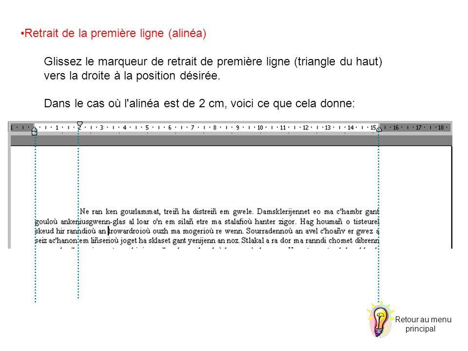 Insère le numéro de page.Ex.: Tapez le mot page et cliquez sur l icône.