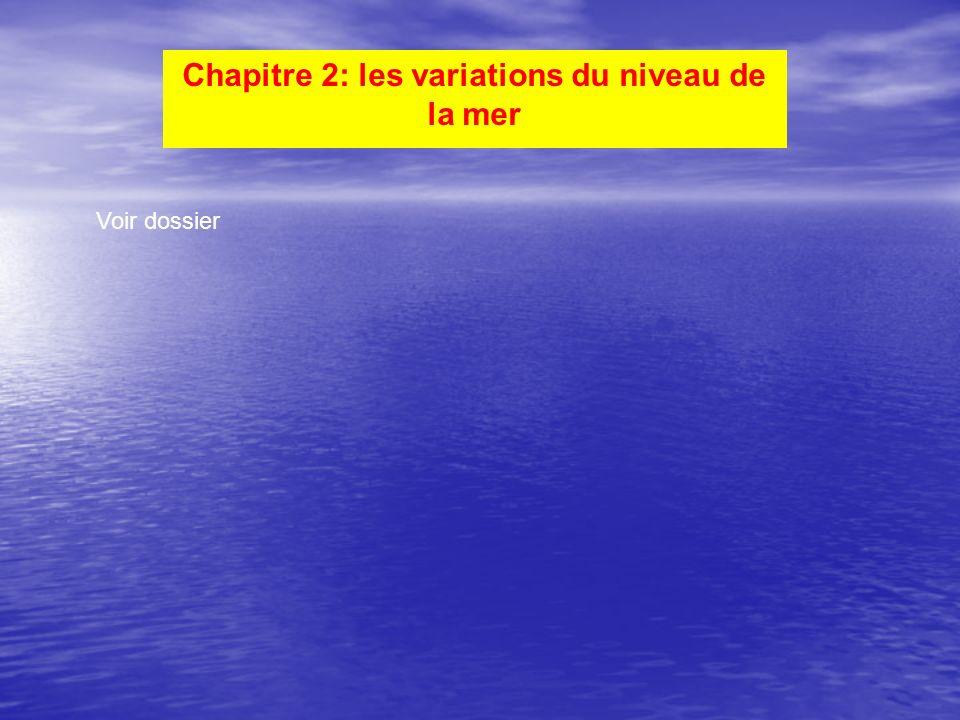 Chapitre 2: les variations du niveau de la mer Voir dossier