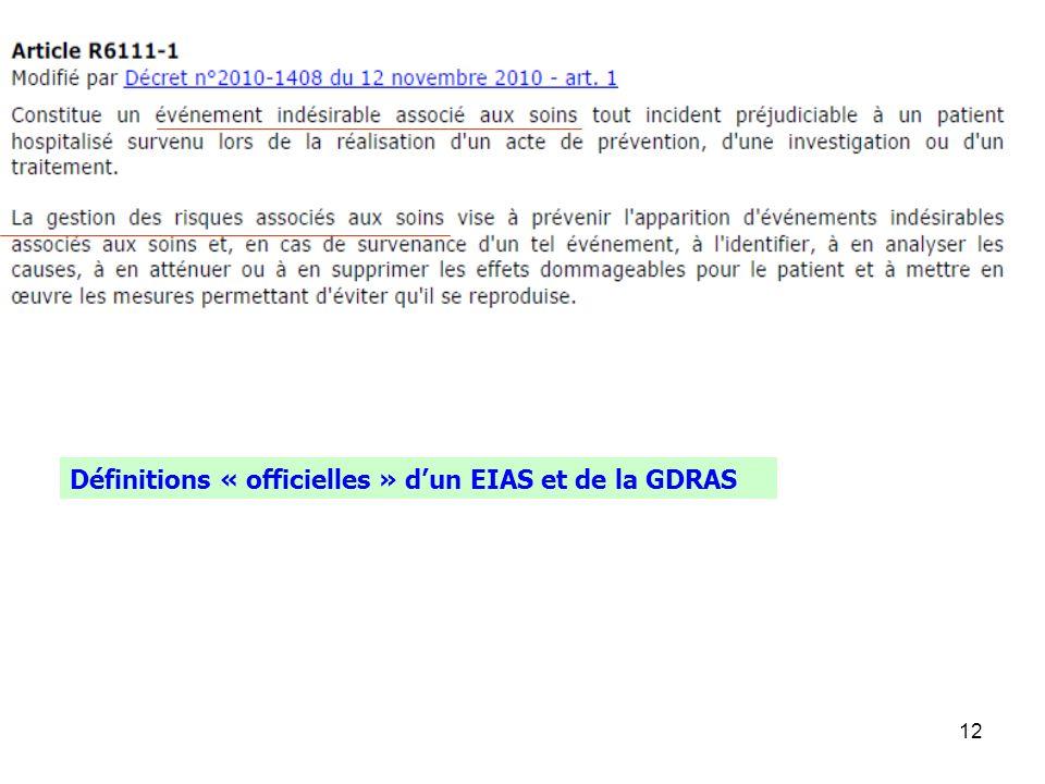 12 Définitions « officielles » dun EIAS et de la GDRAS