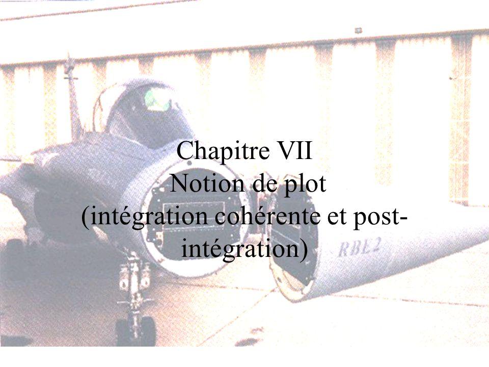 Chaîne de traitement Notion de plot 1.Présentation dune chaîne de traitement Caractéristiques de détection Elements constitutifs 2.Amélioration : intégration sur n échos (plot)