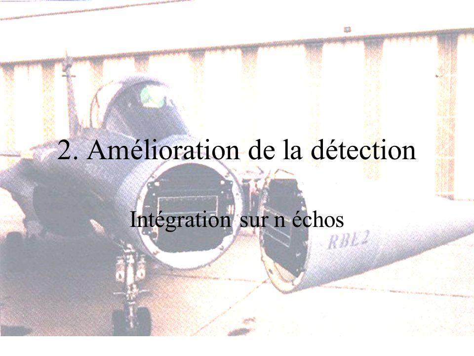 2. Amélioration de la détection Intégration sur n échos