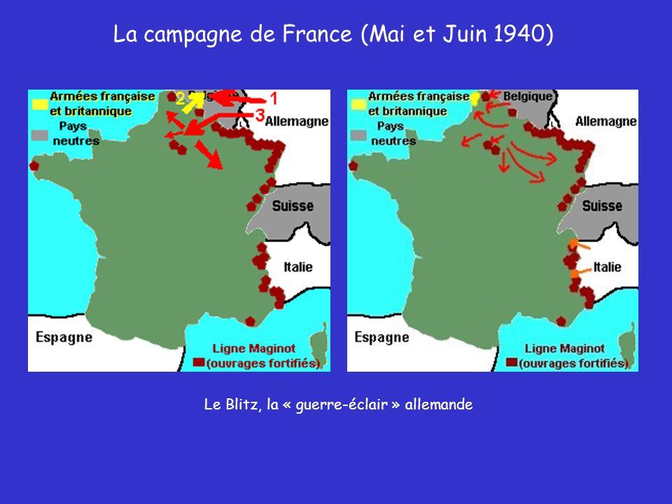 La campagne de France (Mai et Juin 1940) Panzers dans les Ardennes Fantassins allemands Soldats allemands attaquant la ligne Maginot, « par larrière »