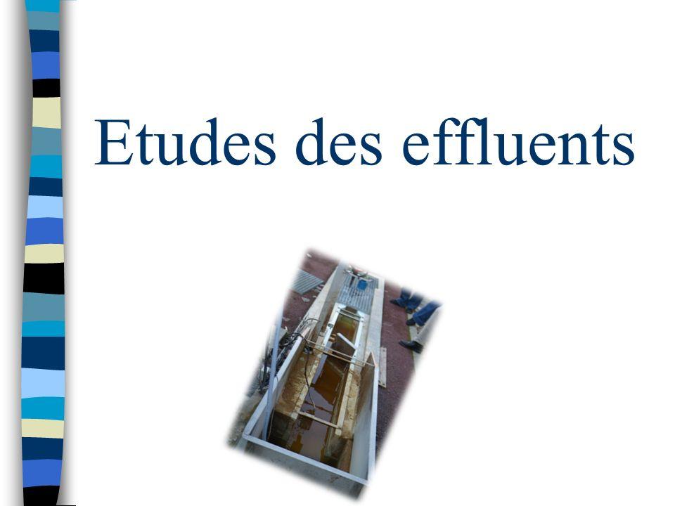 Etudes des effluents
