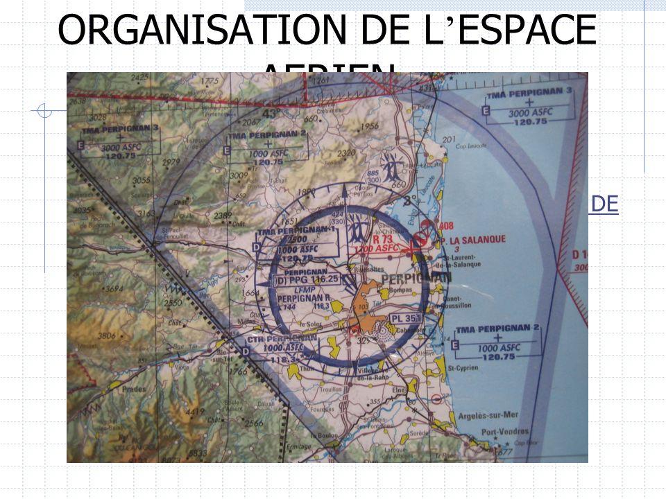 ORGANISATION DE L ESPACE AERIEN III/ DIVISION DE LESPACE AERIEN 2) Lespace inférieur LES REGIONS DE CONTRÔLE CTA ET LES REGIONS DE CONTRÔLE TERMINALES