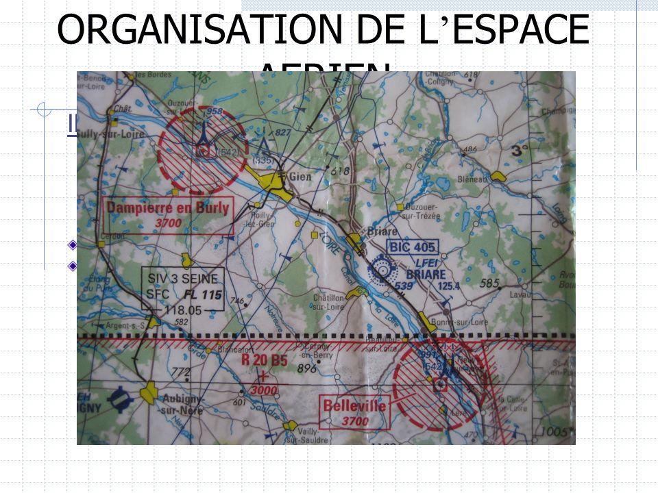 ORGANISATION DE L ESPACE AERIEN III/ DIVISION DE LESPACE AERIEN 2) Lespace inférieur LES ZONES INTERDITES TEMPORAIRES (ZIT) Gabarit moyen 5 km de rayo