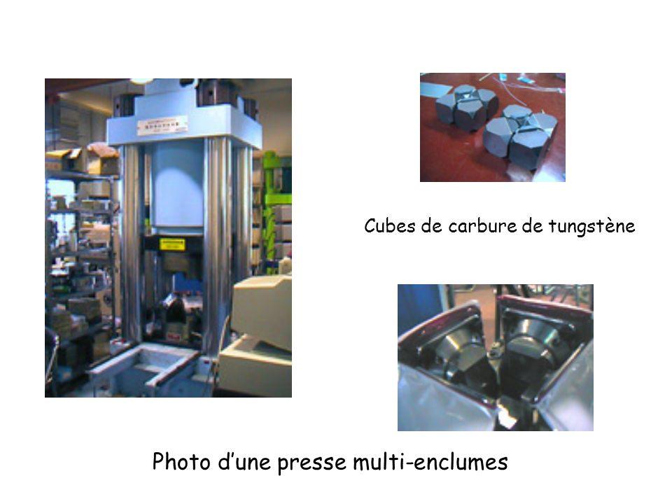 Photo dune presse multi-enclumes Cubes de carbure de tungstène