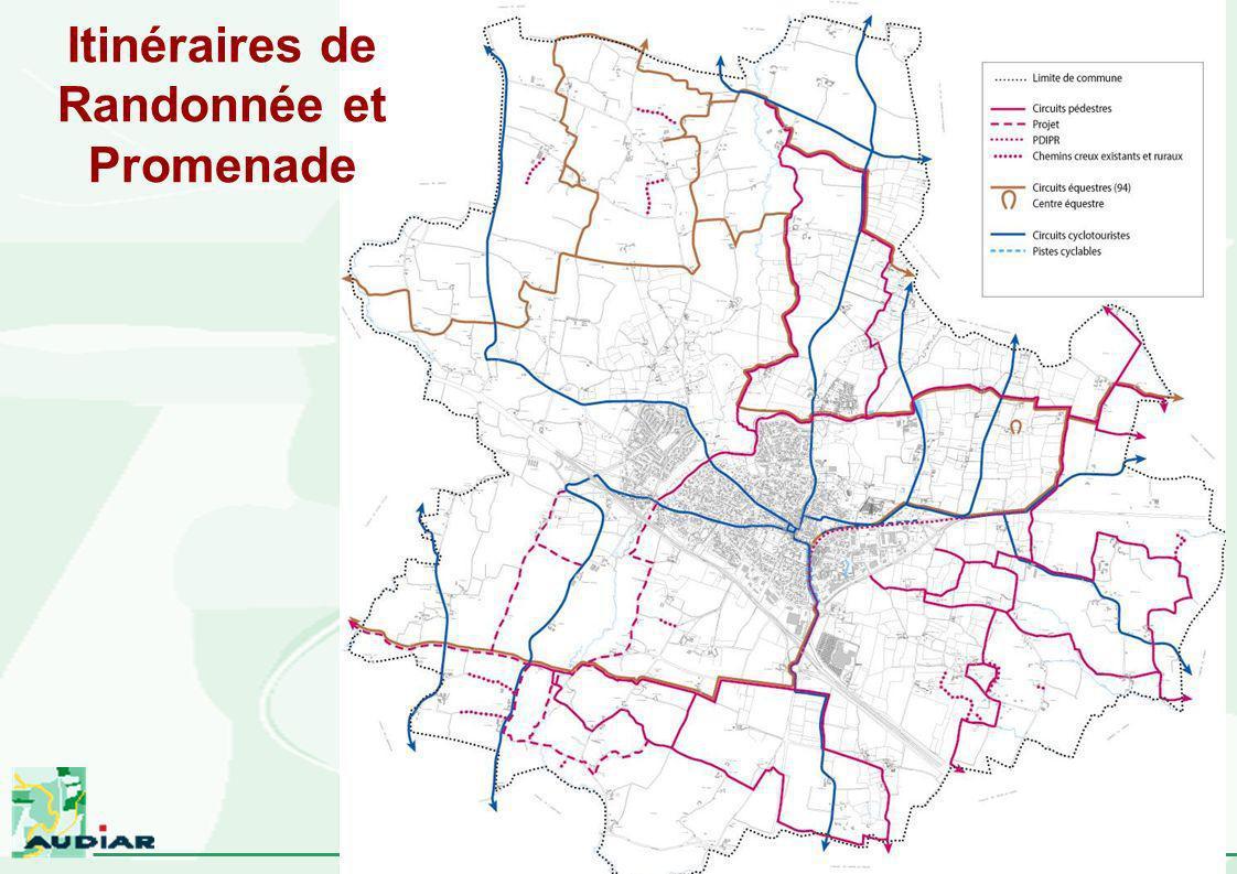 Pacé – Révision du PLU – réunion du 12 Juin 2003 Itinéraires de Randonnée et Promenade