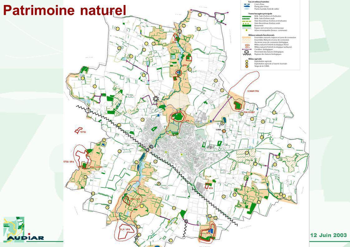 Pacé – Révision du PLU – réunion du 12 Juin 2003 Patrimoine naturel