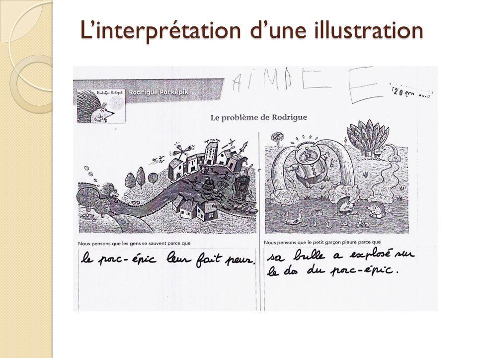 Linterprétation dune illustration