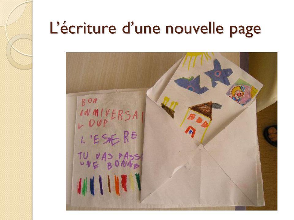 Lécriture dune nouvelle page