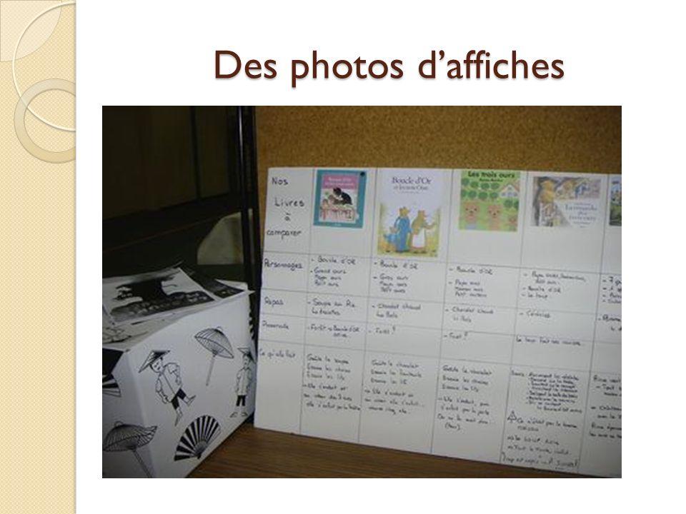 Des photos daffiches