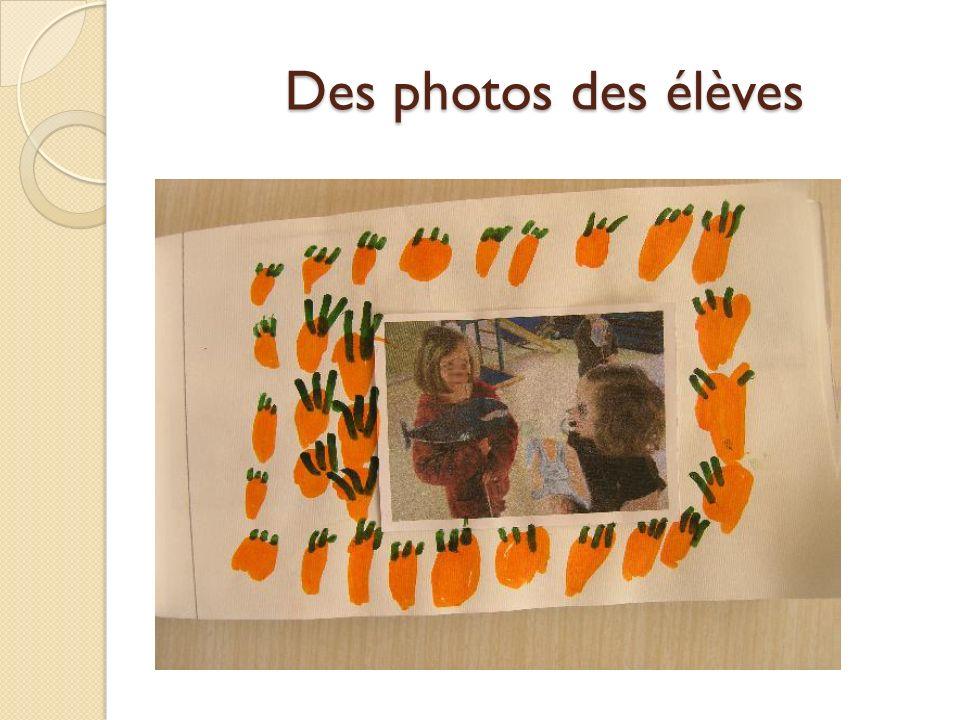 Des photos des élèves