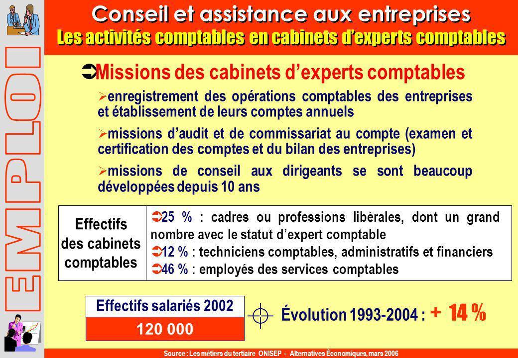 Conseil et assistance aux entreprises Les activités comptables en cabinets dexperts comptables Conseil et assistance aux entreprises Les activités com