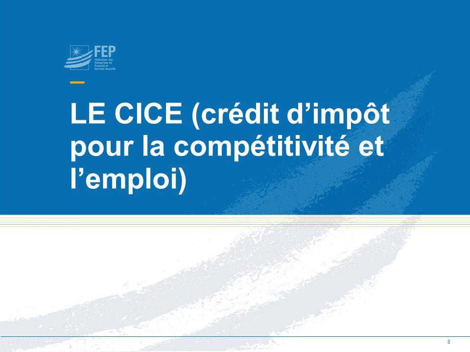 Quest ce que le crédit dimpôt pour la compétitivité et lemploi .