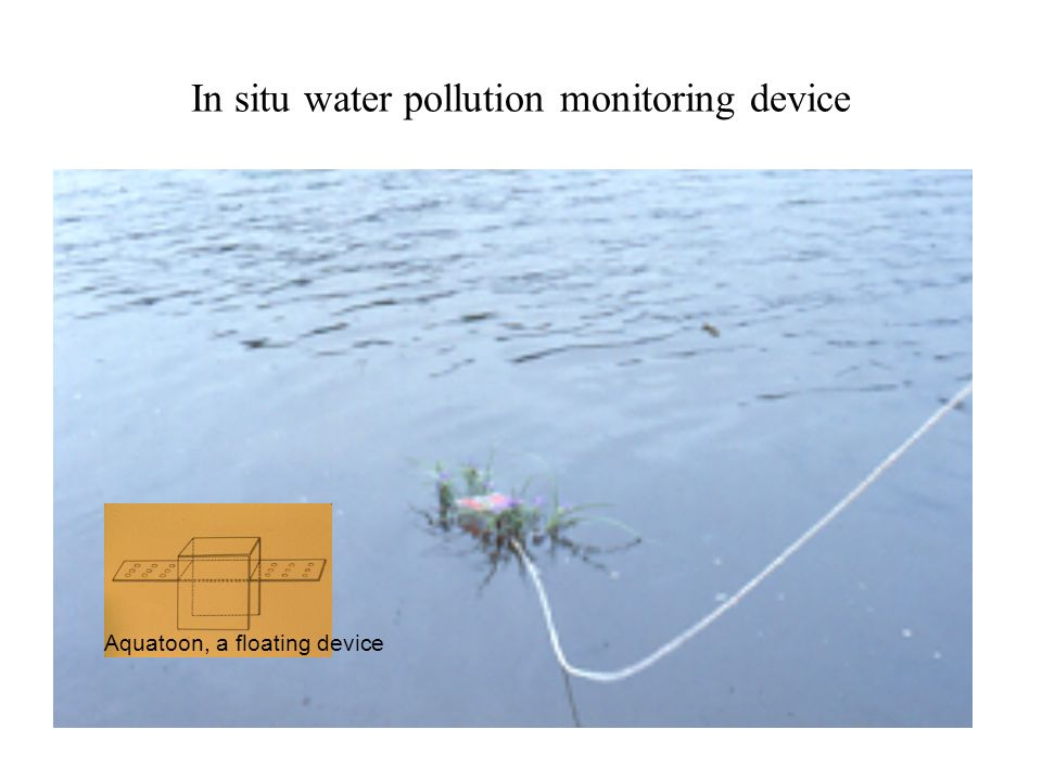 In situ water pollution monitoring device Aquatoon, a floating device
