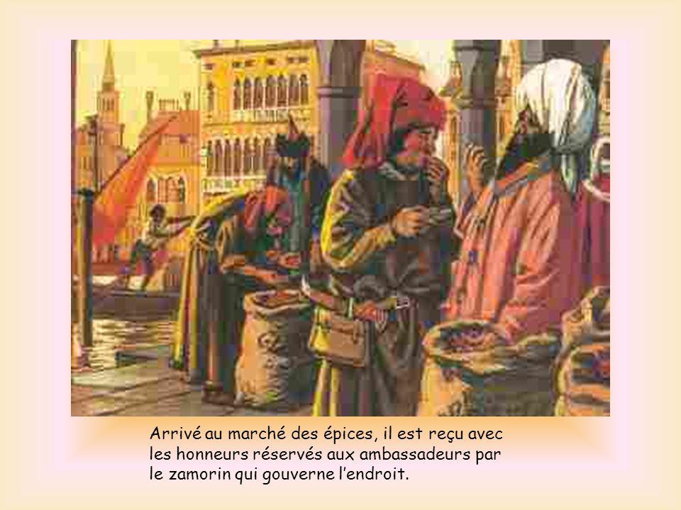 Il accoste le 18 mai 1498, sur la plage du village de pêcheurs de Kappad à quelques 15 km de Calicut. À sa grand surprise, il est accueilli par deux A
