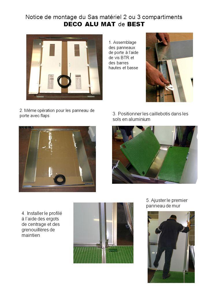 Notice de montage du Sas matériel 2 ou 3 compartiments DECO ALU MAT de BEST 1.