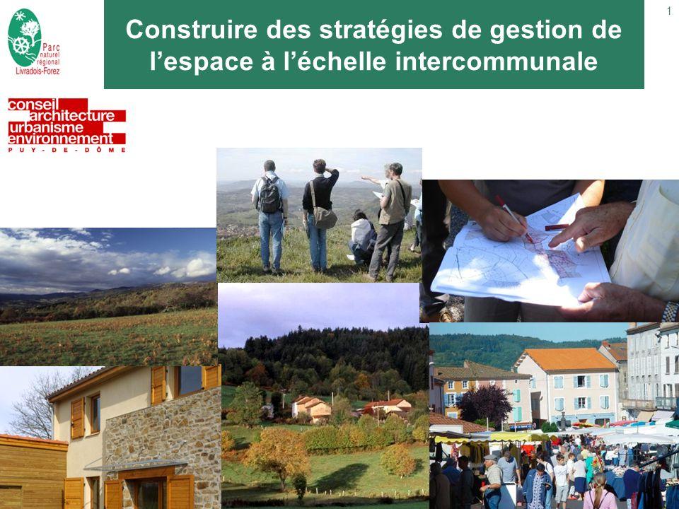 1 Construire des stratégies de gestion de lespace à léchelle intercommunale