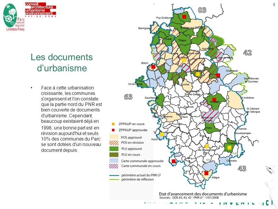 4dimanche 29 décembre 2013 Les documents durbanisme Face à cette urbanisation croissante, les communes s organisent et l on constate que la partie nord du PNR est bien couverte de documents d urbanisme.