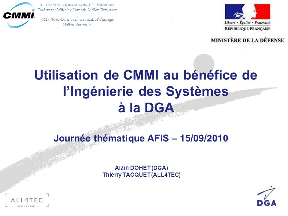 ® CMMI is registered in the U.S.