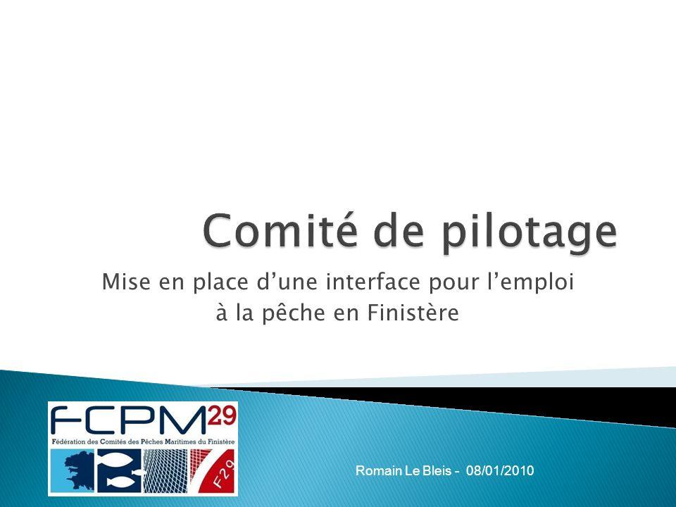 Mise en place dune interface pour lemploi à la pêche en Finistère Romain Le Bleis - 08/01/2010
