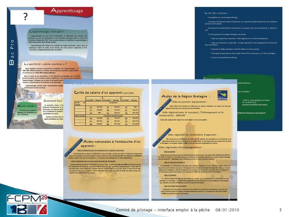 5Comité de pilotage - Interface emploi à la pêche08/01/2010