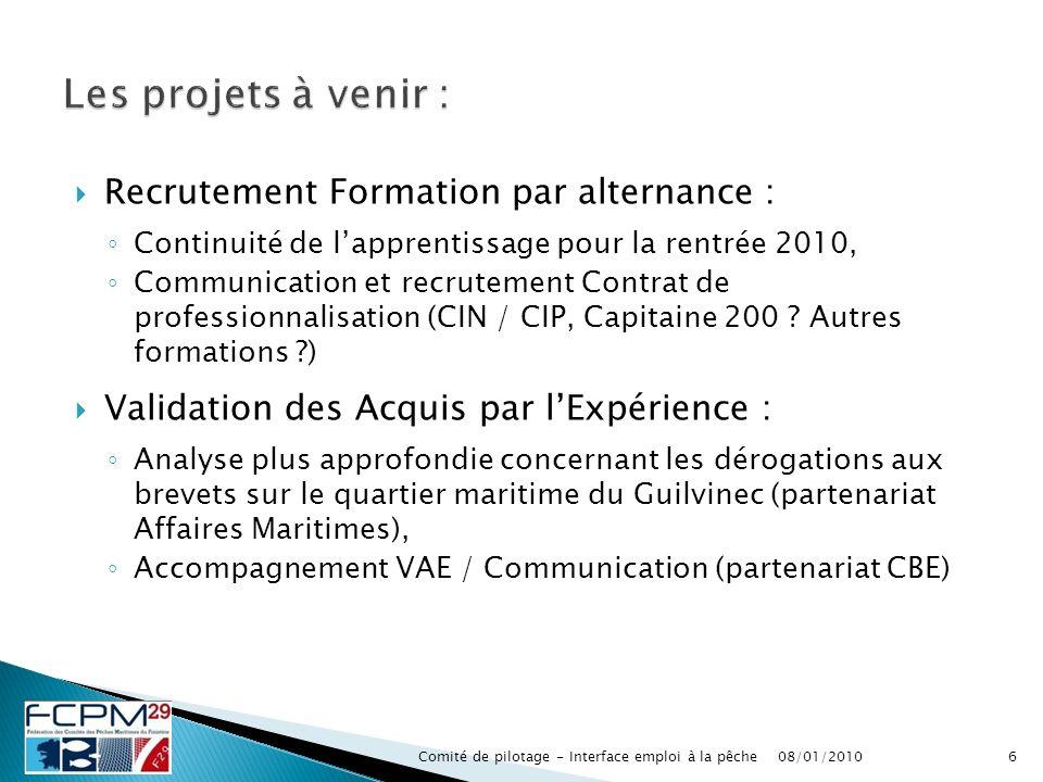 Recrutement Formation par alternance : Continuité de lapprentissage pour la rentrée 2010, Communication et recrutement Contrat de professionnalisation