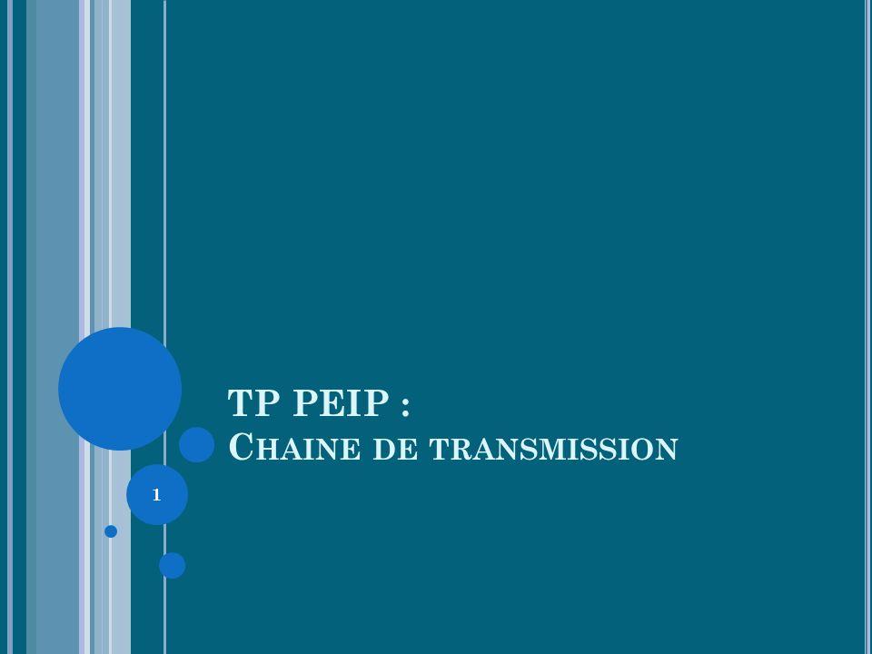 TP PEIP : C HAINE DE TRANSMISSION 1