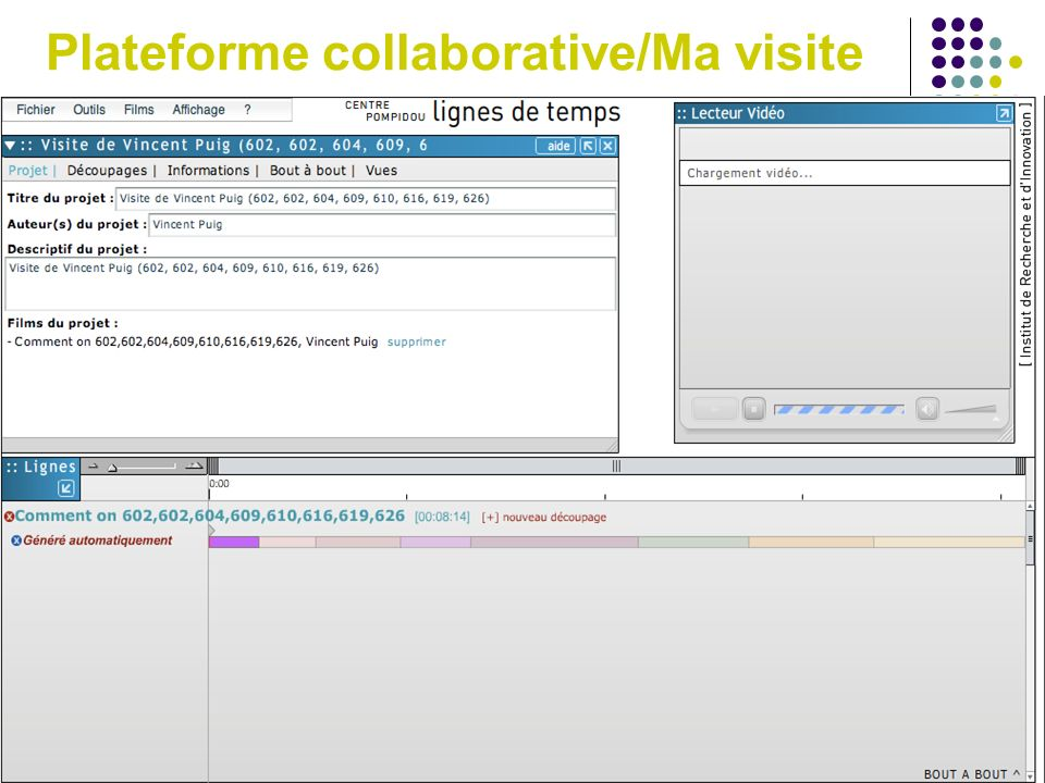 Plateforme collaborative/Ma visite