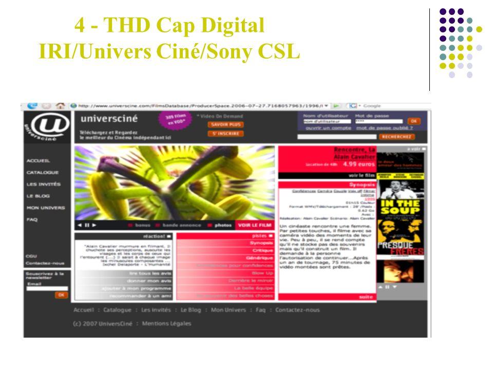4 - THD Cap Digital IRI/Univers Ciné/Sony CSL