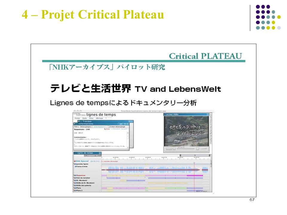 4 – Projet Critical Plateau